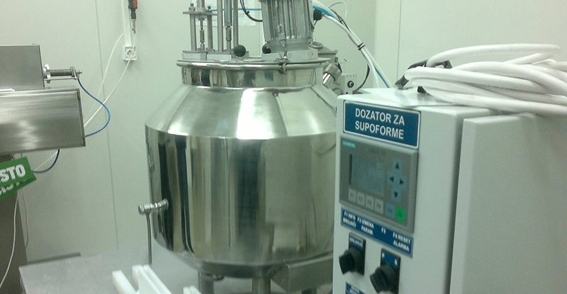 Filling machine for viscous product