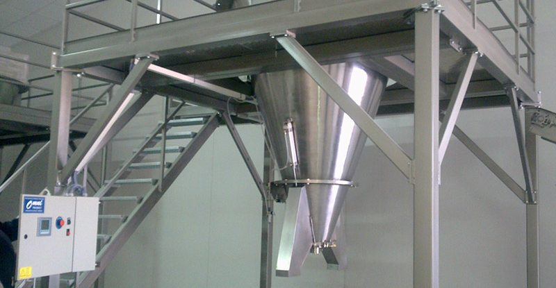 Mixer for mixing of powdery materials